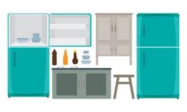 Cucina della decorazione illustrazione di stock