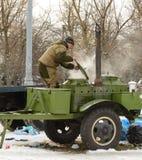 Cucina di campo dell'esercito Fotografia Stock Libera da Diritti