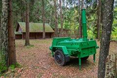 Cucina di campo dell'esercito sul territorio del campo complesso storico militare di Partizanen in Stankovo, Bielorussia Fotografia Stock