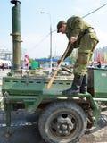 Cucina di campo sulla festa di Victory Day, 2012 immagini stock