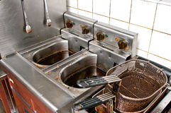 Cucina di Durty Fotografia Stock