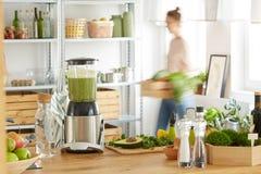 Cucina di eco del vegano immagini stock libere da diritti