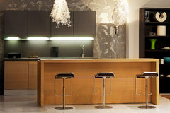 Cucina di legno immagine stock