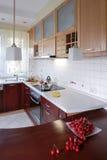 Cucina di legno del `s Fotografie Stock Libere da Diritti