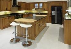 Cucina di lusso di qualità superiore moderna Immagine Stock Libera da Diritti