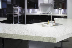 Cucina di lusso di qualità superiore moderna Immagine Stock