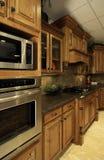 Cucina di lusso organizzata Fotografia Stock