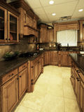 Cucina di lusso spaziosa Immagine Stock