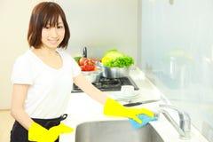 Cucina di pulizia Fotografia Stock