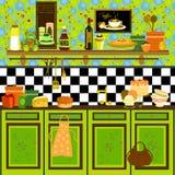 Cucina di stile di paese retro Fotografia Stock