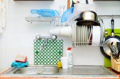 Cucina di vecchio stile Fotografia Stock Libera da Diritti