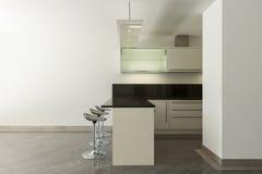 Cucina domestica dell'appartamento vuoto Fotografia Stock