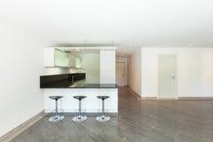 Cucina domestica dell'appartamento vuoto Immagine Stock Libera da Diritti