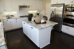 Cucina domestica di lusso fotografia stock