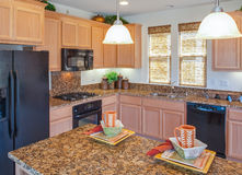 Cucina domestica residenziale fotografia stock