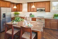 Cucina domestica residenziale immagine stock