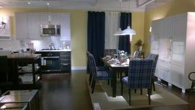 Cucina e progettazione dinning della stanza Fotografie Stock