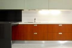Cucina elegante Fotografia Stock