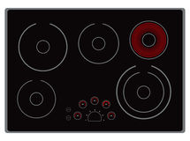 Cucina elettrica moderna Fotografia Stock Libera da Diritti
