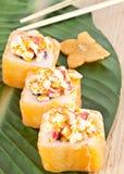 Cucina giapponese - insieme dei sushi Fotografia Stock