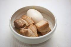 Cucina giapponese, porco Kakuni Immagini Stock Libere da Diritti