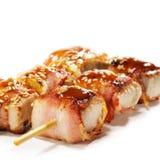 Cucina giapponese - sgombro spostato in pancetta affumicata Immagine Stock Libera da Diritti