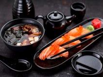 Cucina giapponese Sushi fotografie stock