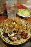 Cucina giapponese Takoyaki (polipo cotto) Fotografia Stock Libera da Diritti