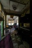 Cucina - hotel abbandonato & campo religioso Immagine Stock