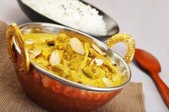 Cucina indiana del pasto dell'alimento del curry di Pasanda dell'agnello Immagini Stock