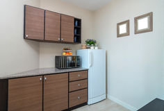 Cucina interna di lusso Fotografia Stock