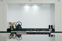 cucina interna moderna Fotografie Stock