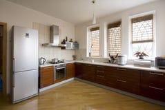cucina interna moderna Fotografie Stock Libere da Diritti