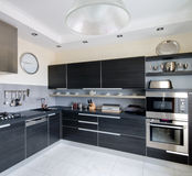 cucina interna moderna Fotografia Stock Libera da Diritti