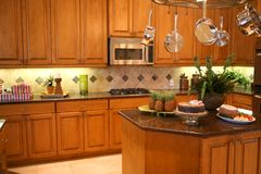 Cucina lussuosa Fotografia Stock Libera da Diritti