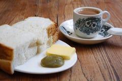 Cucina malese, pane tostato di kaya Fotografie Stock