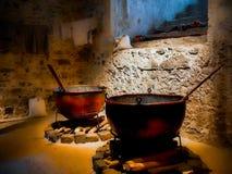 Cucina medievale in Gran Bretagna Fotografia Stock Libera da Diritti