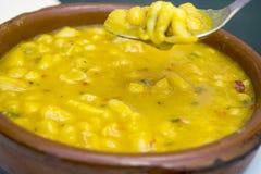 Cucina Mediterranea, potage con i fagioli Immagini Stock Libere da Diritti