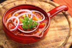 Cucina messicana con il carne di imbroglione di peperoncini rossi Fotografia Stock