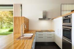 Cucina moderna Fotografia Stock Libera da Diritti