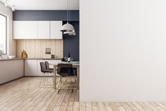 Cucina moderna con copyspace Fotografia Stock