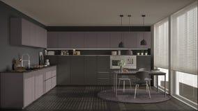 Cucina viola moderna foto stock - Iscriviti Gratis
