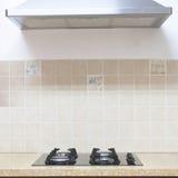 Cucina moderna della fresa del gas Fotografie Stock