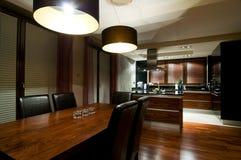 Cucina moderna lussuosa Fotografia Stock Libera da Diritti