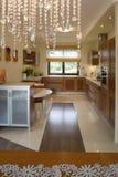 Cucina moderna lussuosa Fotografia Stock