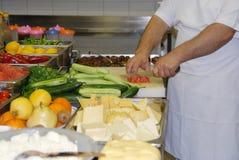 Cucina moderna nel ` del ristorante Immagine Stock Libera da Diritti