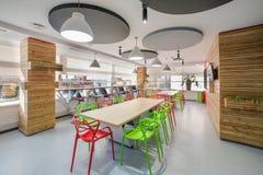Cucina moderna nell'edificio per uffici Immagini Stock Libere da Diritti