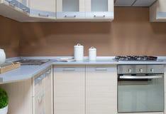 Cucina moderna vuota Fotografia Stock