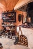 Cucina nel castello Fotografia Stock Libera da Diritti