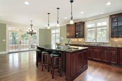 Cucina nella casa della nuova costruzione Fotografie Stock Libere da Diritti